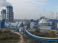 Construction of the production line objects of dry cement production method capacity 6000 tons of clinker per day, Mordovia